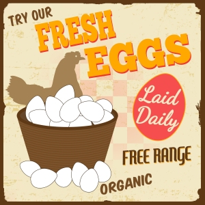 bigstock-Fresh-Eggs-Vintage-Poster-44559964